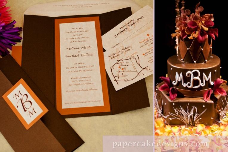 melissa's invitation + cake