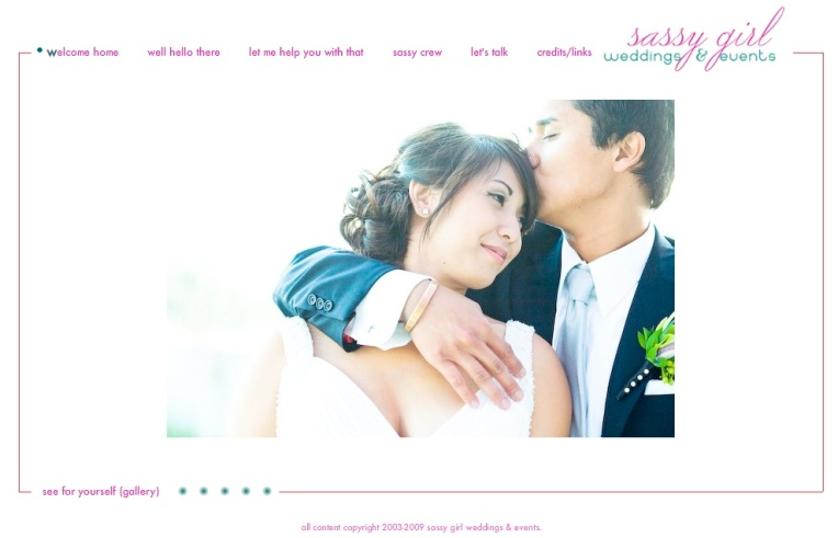 sassy girl weddings & events new website