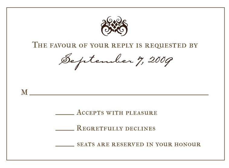 Wedding Rsvp Wording Samples