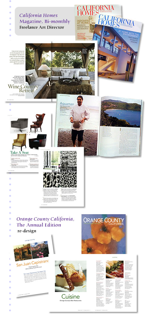 layout & design dept & well stories, color picks & corrections, production