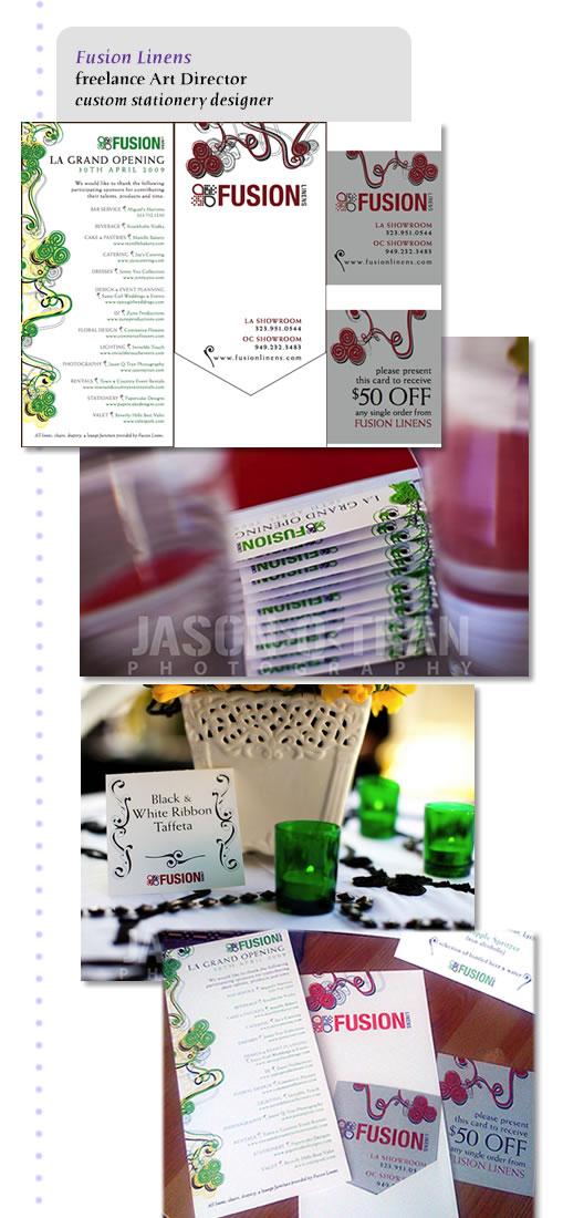 custom designed sponsor card, pocket on back w/gift card