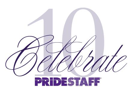 PrideStaff 10 Year Anniversary Logo
