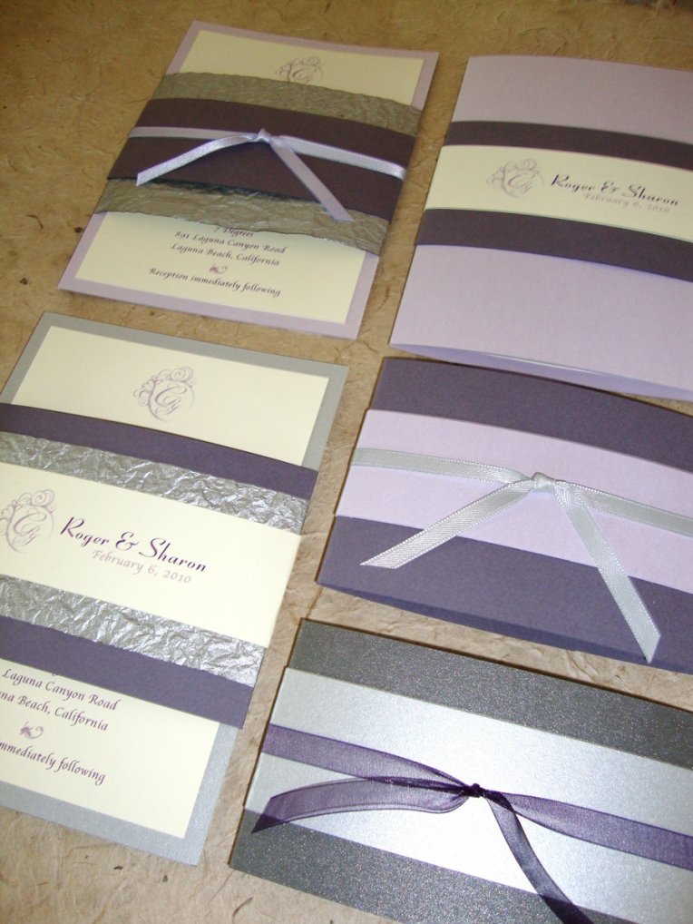 colors: lavender, silver & ivory