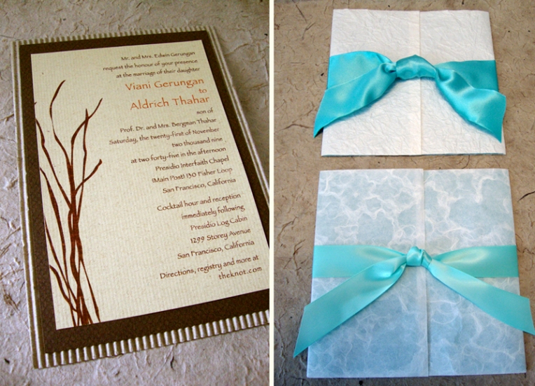 Custom wedding invitation sample designs papercake designs more sample stopboris Gallery