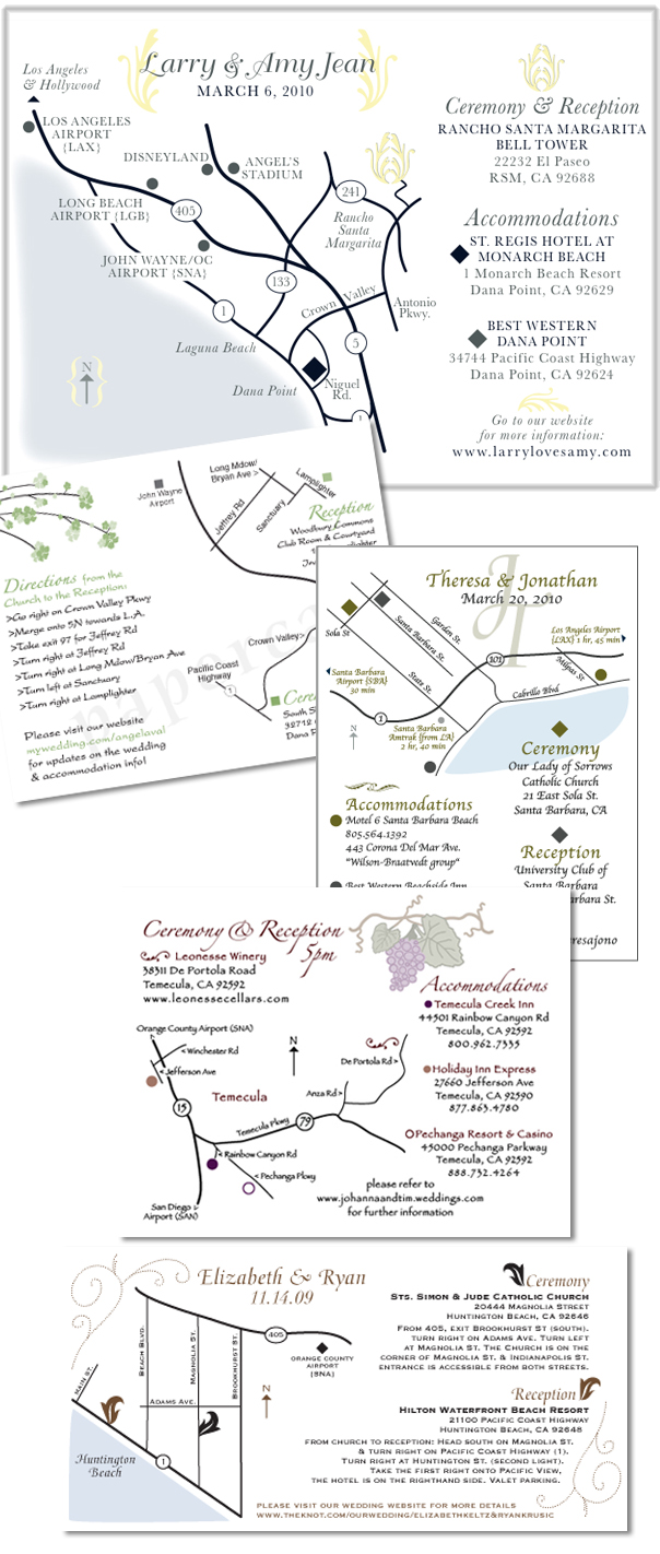personalized wedding map