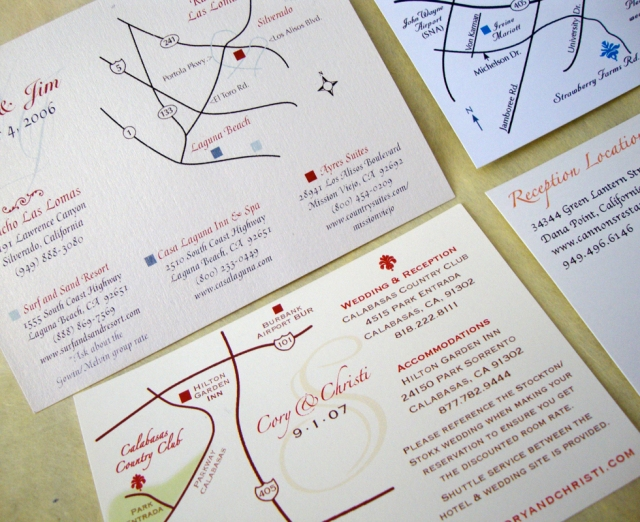 custom wedding map enclosures