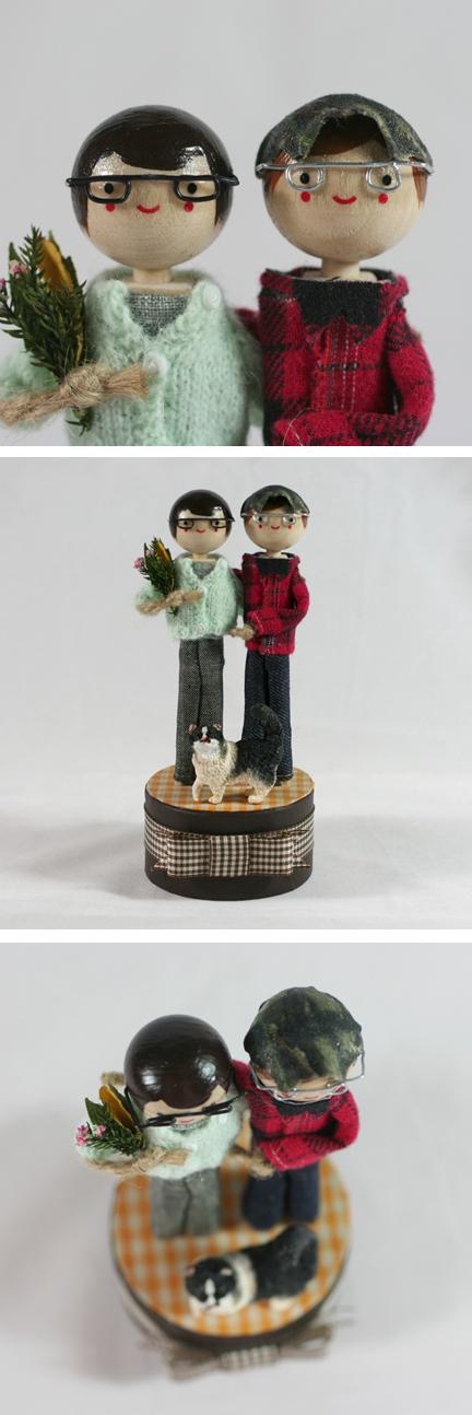 Wedding cake custom cake topper