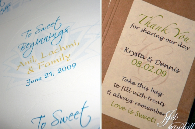 wedding favor sweet labels