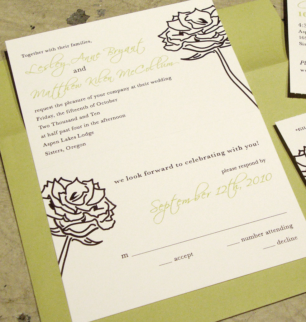 custom wedding invitation] tear-off RSVP postcard – papercake designs