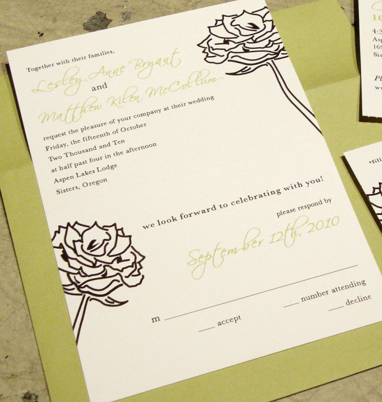 wedding invitation RSVP tear-off