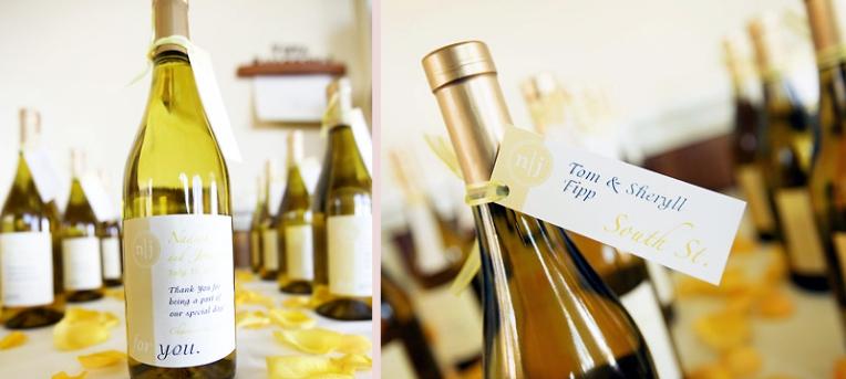 wedding wine bottle label favors
