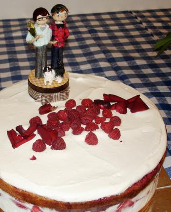 wedding cake & topper