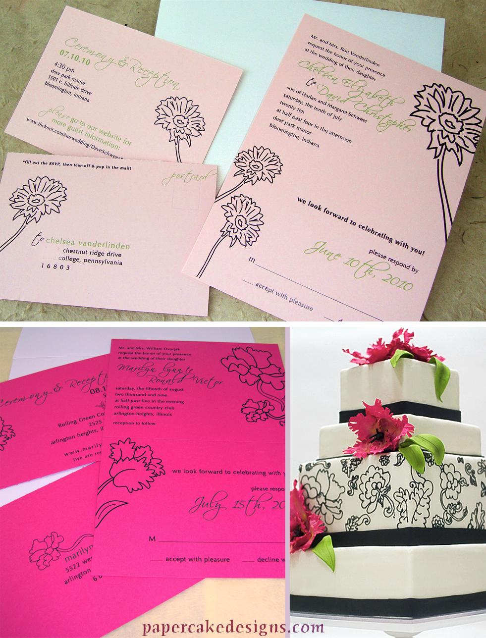 tear off rsvp wedding invitations