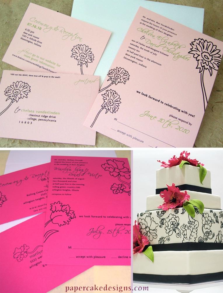 tear off response wedding invitation
