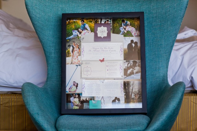 wedding keepsake framed invitation