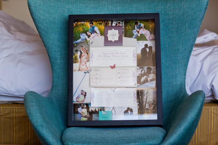 wedding keepsake framed invitation