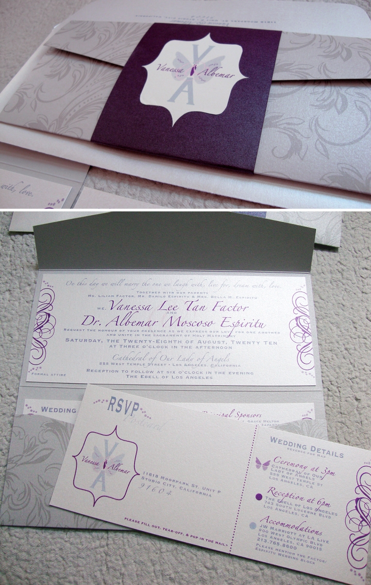 wedding monogram invitation