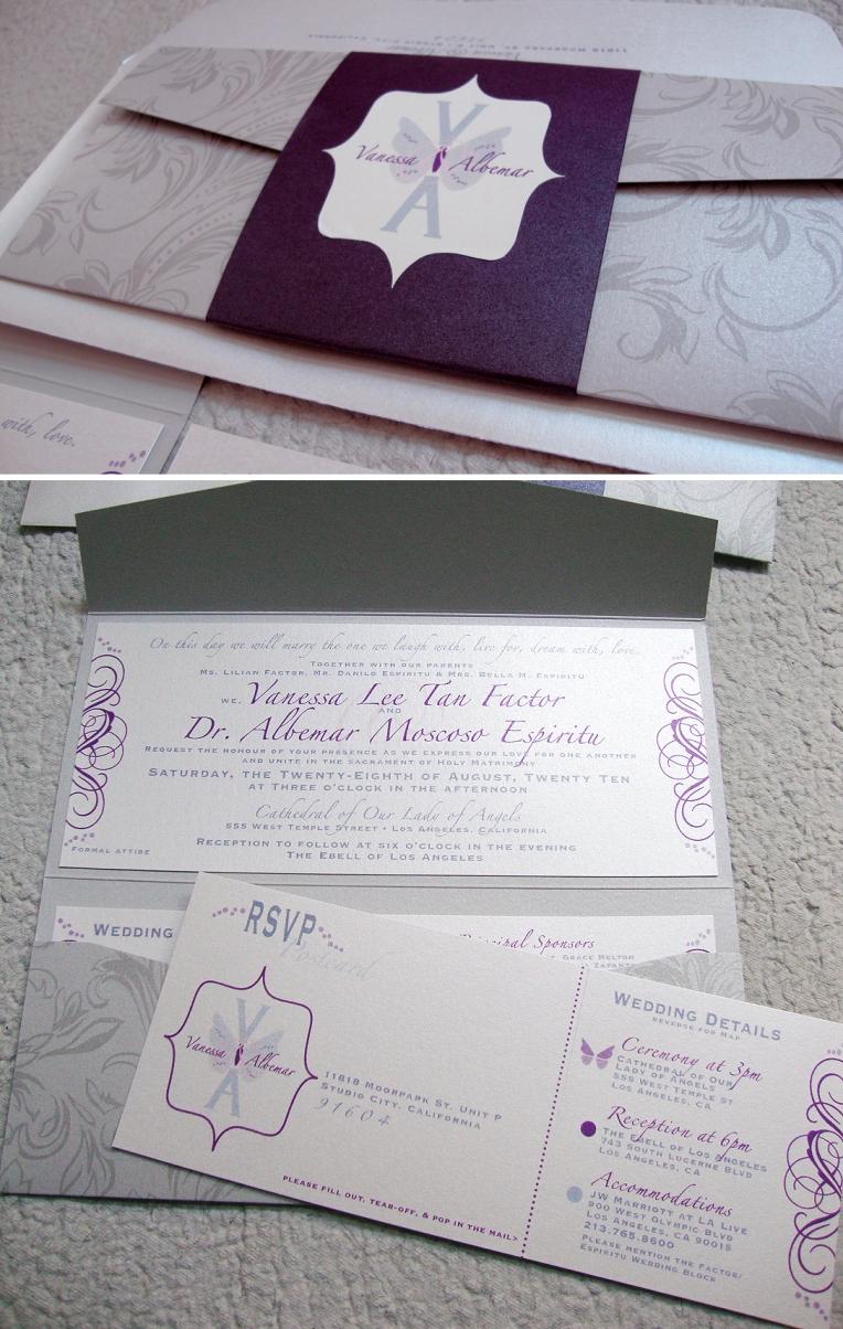 wedding monogram invitation