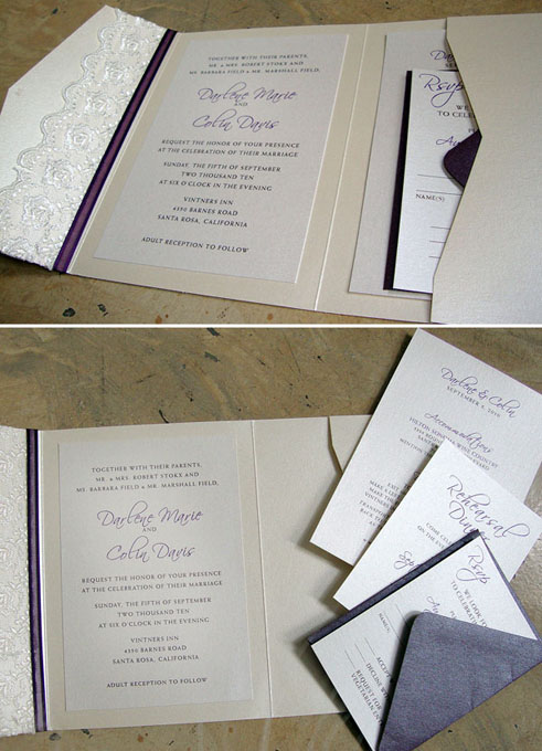 wedding invitation lace package