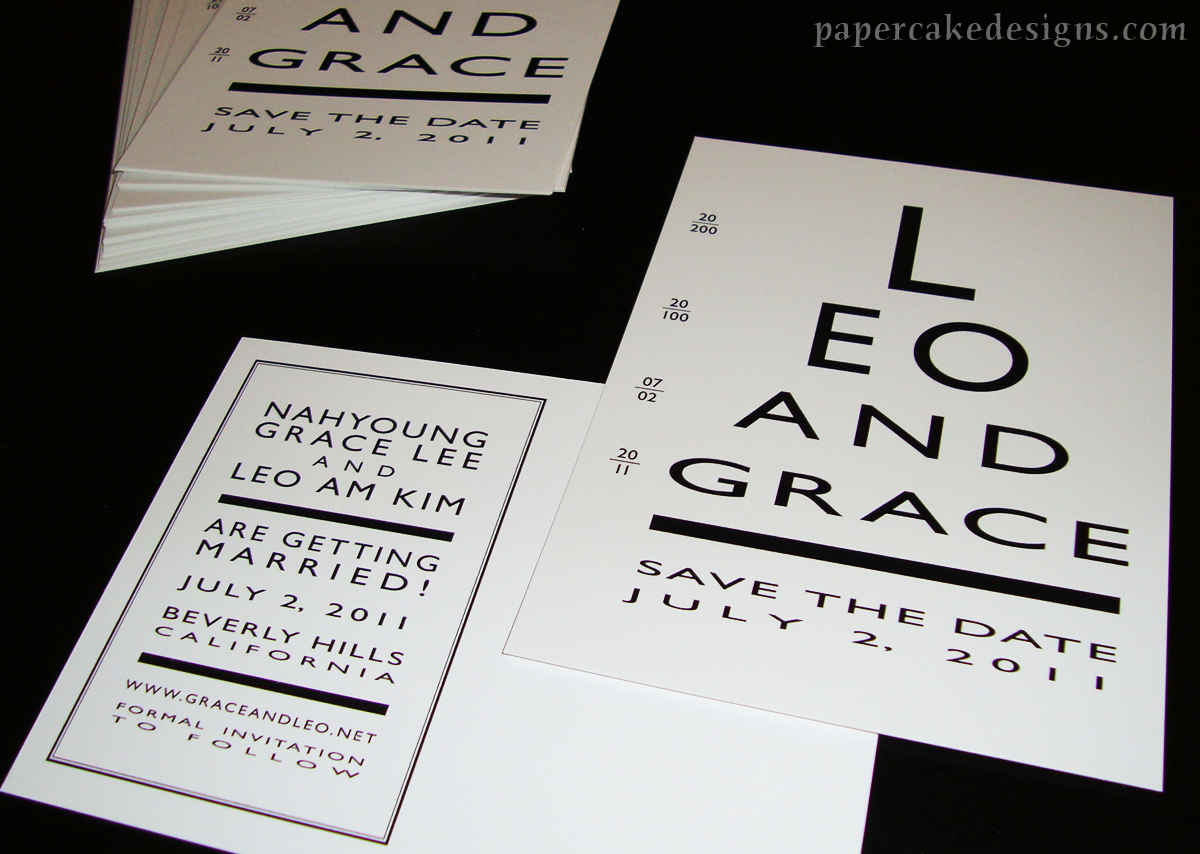 eye chart save the date