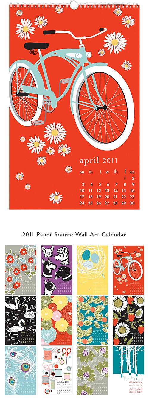Paper Source 2011 calendar