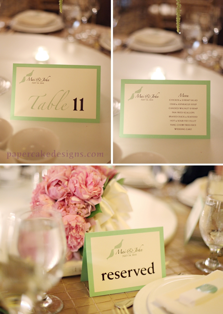 birds reception stationery green