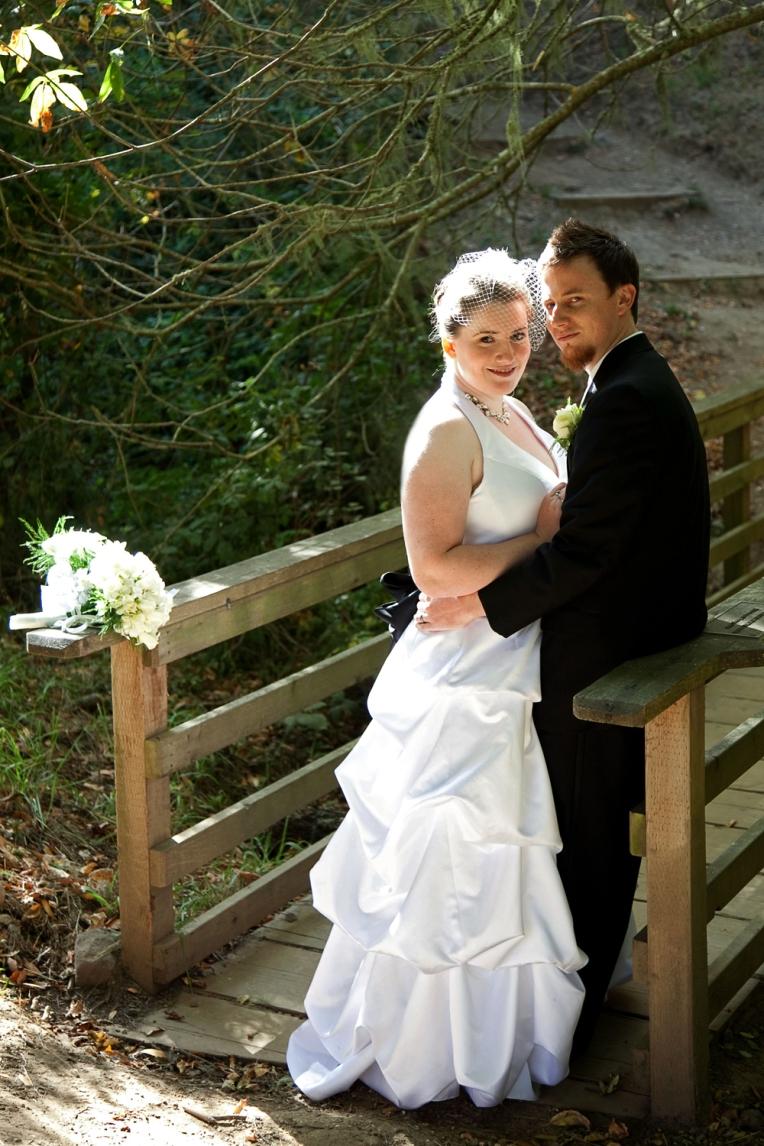 bridge wedding photo