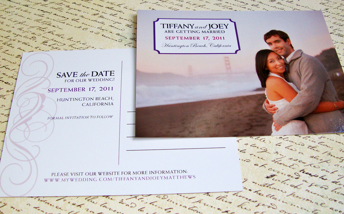 save the date custom design wedding inspiration papercake designs – Postcard Wedding Save the Dates