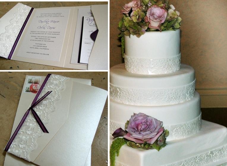 wedding cake & invite