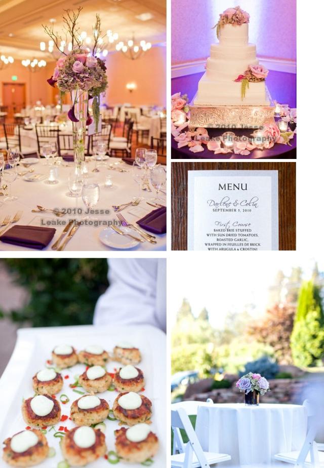wedding reception menu