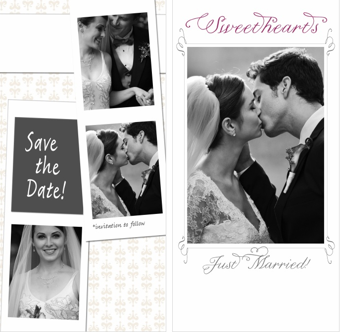 wedding photostrip sweethearts