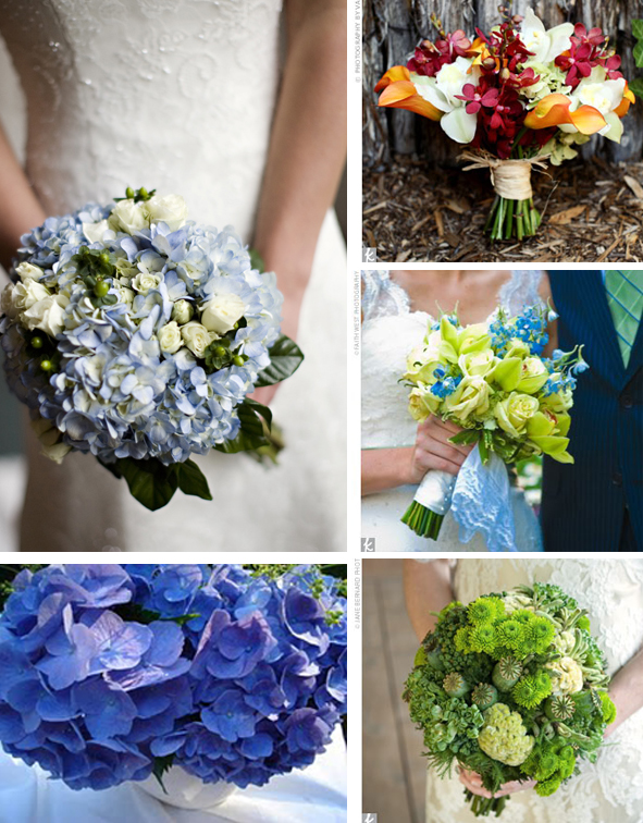 hydrangea summer wedding bouquets