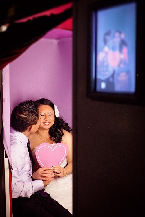 wedding day photo booth