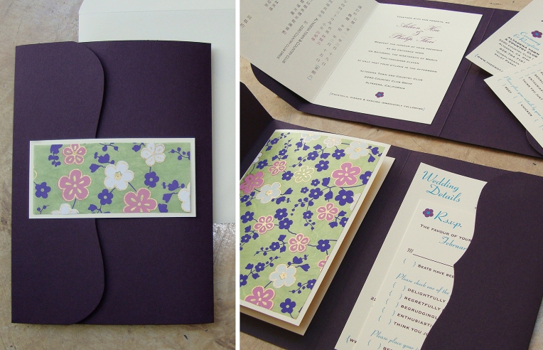 bilingual booklet wedding invite