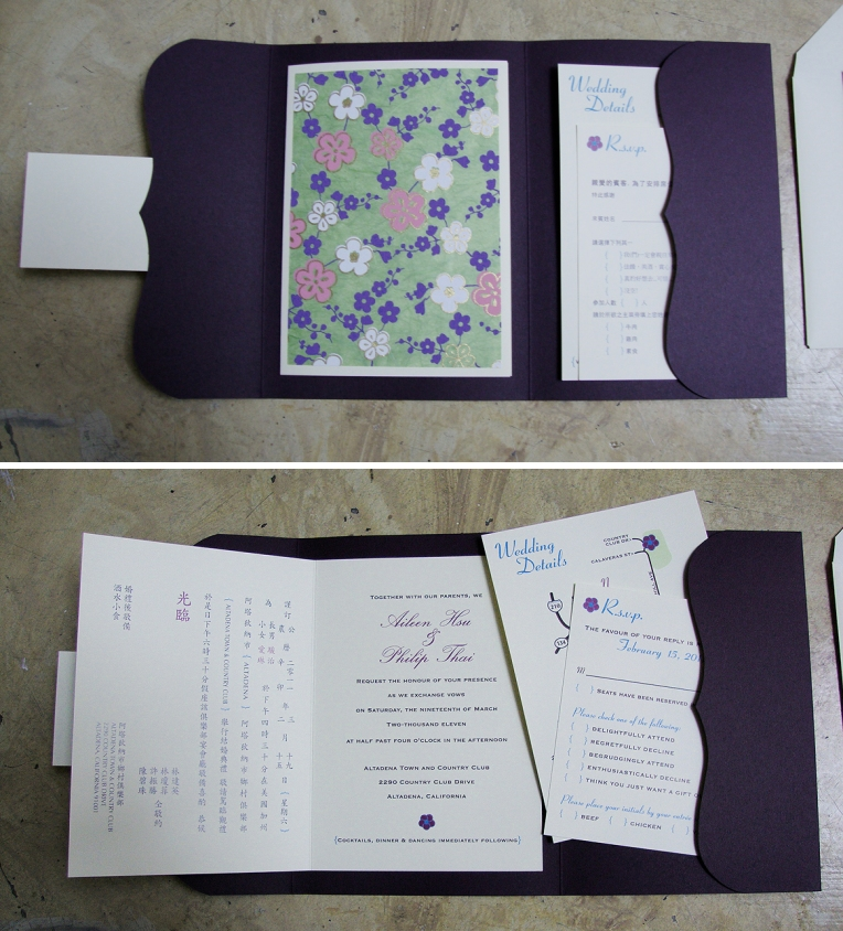 wedding bilingual booklet invitation