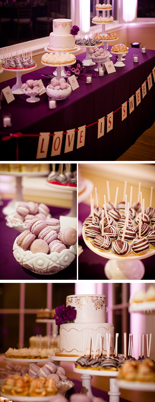 wedding cake & candy bar