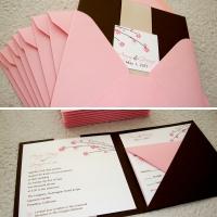 [custom wedding invitation] square pocket folder