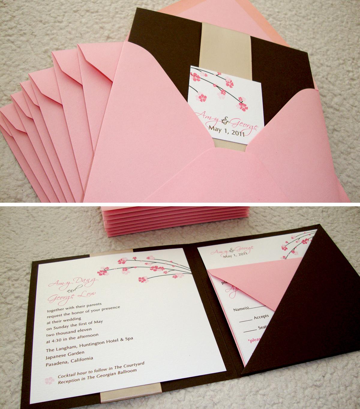 printed wedding invitations cheap cheap elegant wedding invitations cherry blossom wedding invitation