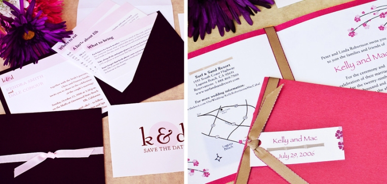 wedding invitations pink