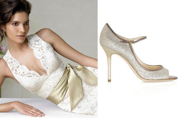 champagne sash & shoe