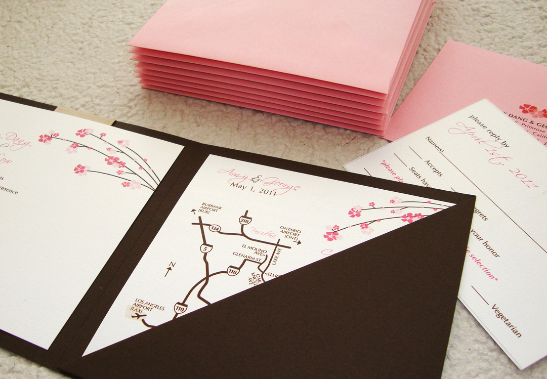 custom wedding invitation] square pocket folder – papercake designs