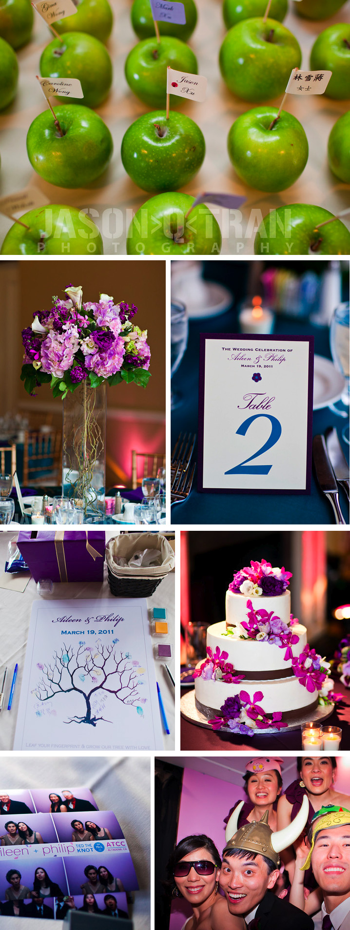 Wedding reception design details