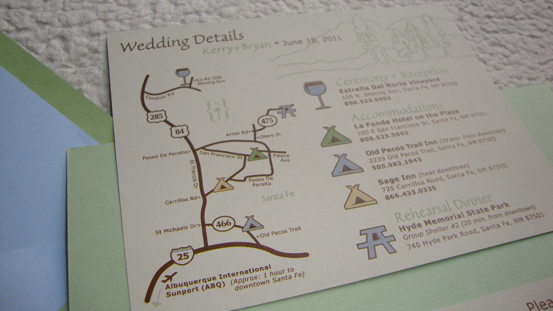 Custom Wedding Invitation Pocket On The Back Papercake Designs