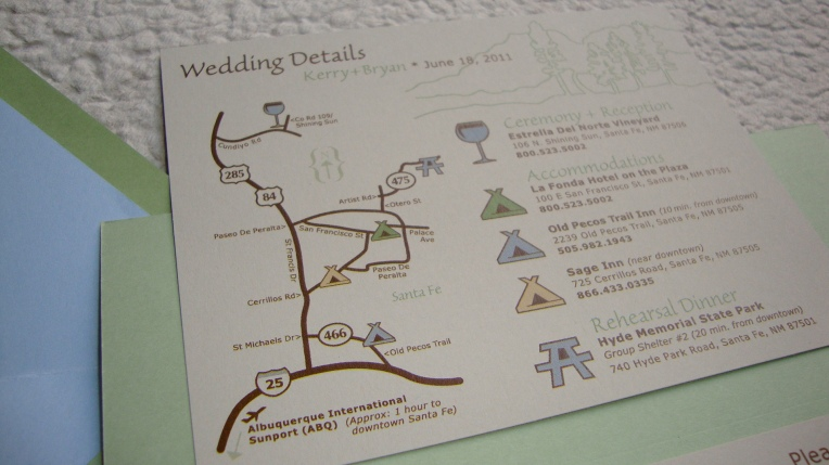 custom wedding map