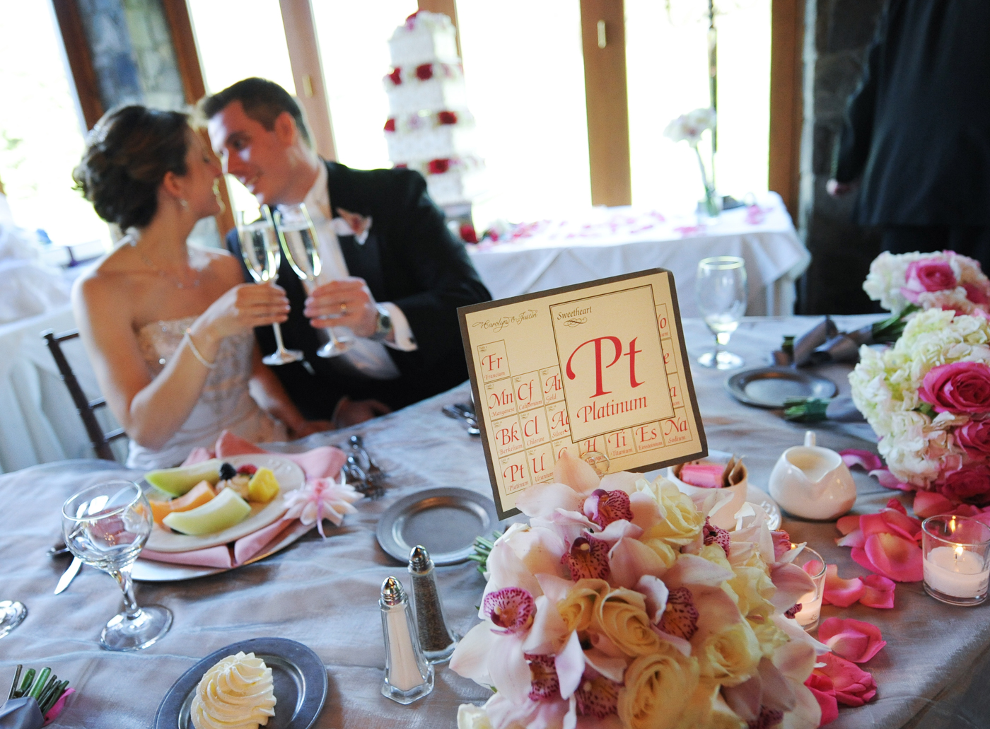 Wedding reception stationery periodic table theme papercake designs reception table cards gamestrikefo Choice Image