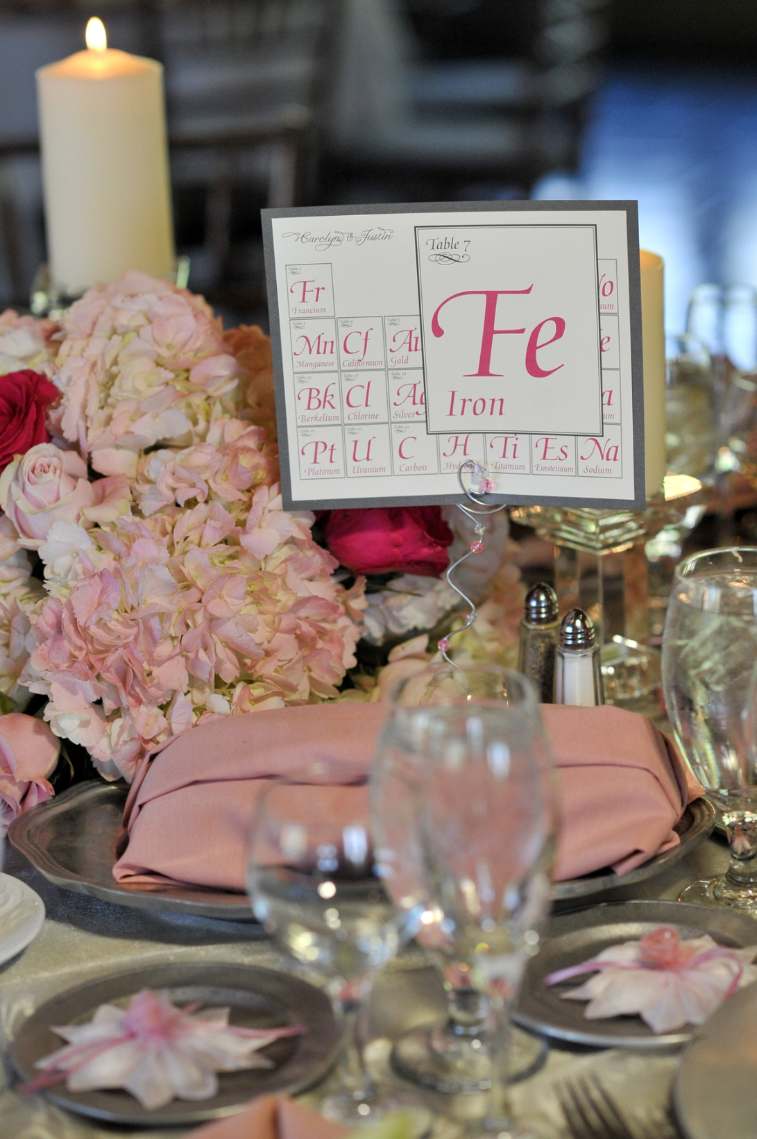 wedding periodic table card