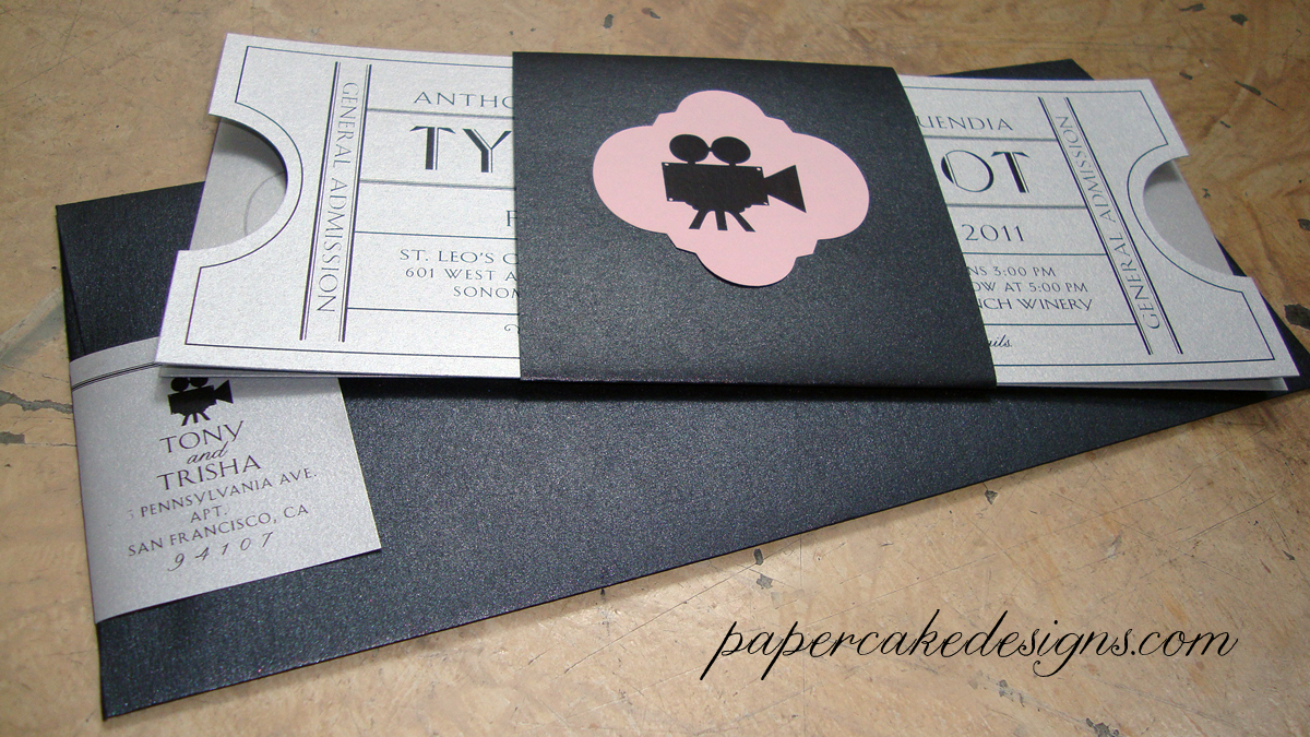 Wedding Invitation Tickets: [custom Wedding Invitation] Vintage Cinema Ticket