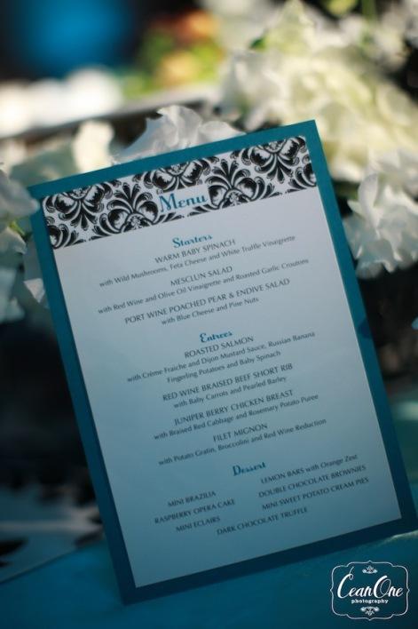 damask menu