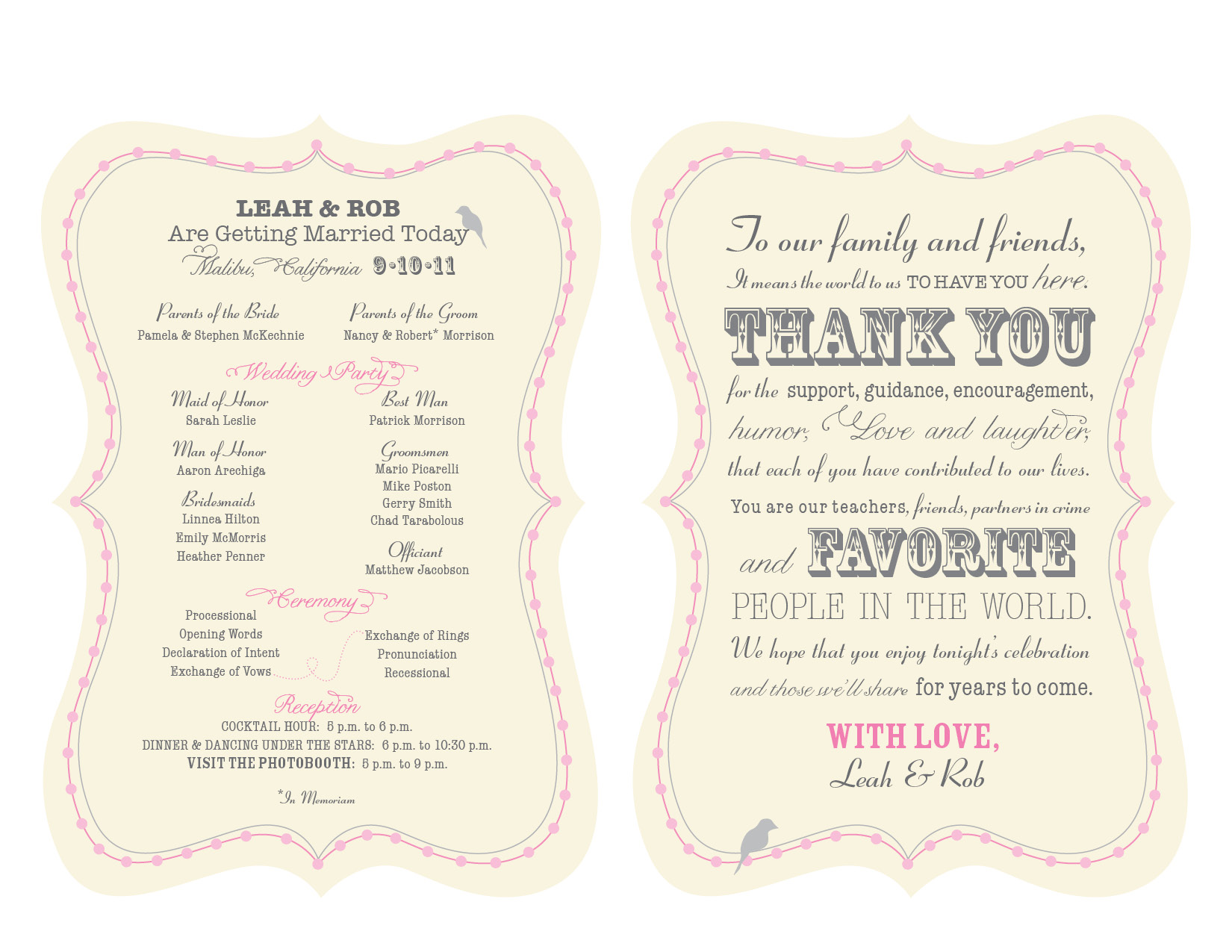 wedding program design template   lexu tk