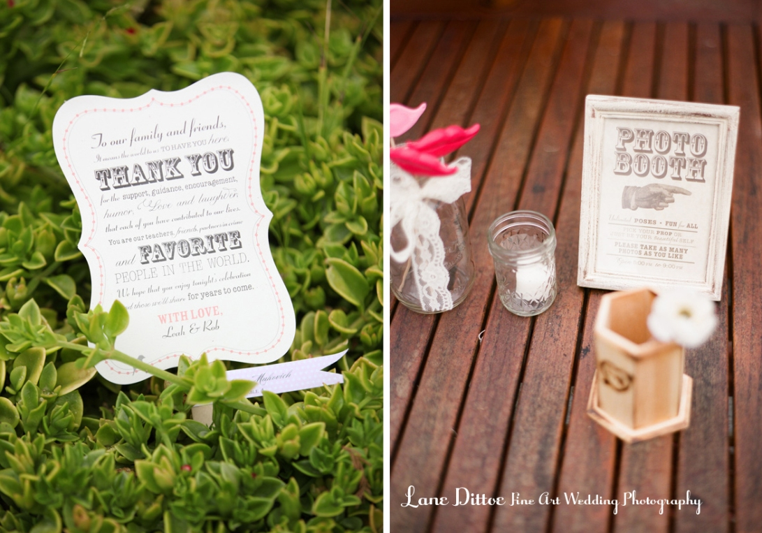 reception stationery vintage style typography